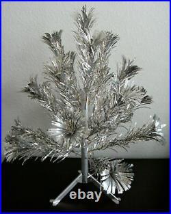 1950s Vintage 2' Aluminum Pom-Pom Christmas Tree With Original Box (all intact)