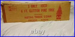 1959 Evergleam 6' silver aluminum christmas tree
