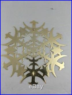 1973 Metropolitan Museum Sterling Vermeil Christmas Star Tree Topper Large RARE