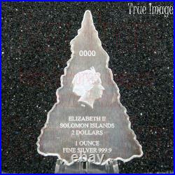 2020 Holiday Tree $2 Pure Silver Christmas Tree Coin Solomon Islands by PAMP