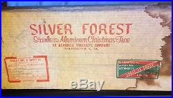 6.5 Ft Silver Pom Pom Christmas Tree Silver Forest Aluminum