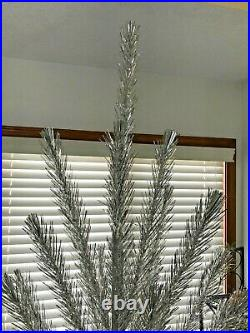 6 FOOT ALUMINUM GLITTER CHRISTMAS TREE With BOX LATE 1940'S ERA RARE