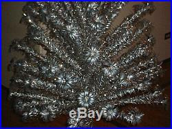 6 ft. Silver Aluminum 94 branch Evergleam Pom-Pom Christmas Tree Silver Sparkler