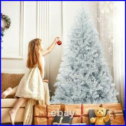 6ft Artificial Silver Christmas Tree Hinged Electroplated Technology