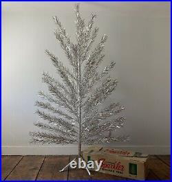7 Vintage Aluminum Sparkler Silver Christmas Tree
