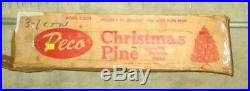 ALUMINUM CHRISTMAS PINE TREE PECO MODEL 5-2724 DELUXE 7 FT, SILVER WithPOM P