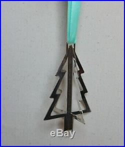 AUTHENTIC STERLING SILVER TIFFANY & CO. OPEN CHRISTMAS TREE ORNAMENT With BLUE BOX