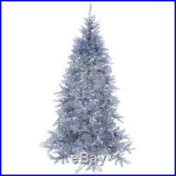 Albero di Natale 230 cm Vintage silver abete argento 500 luci led interno estern