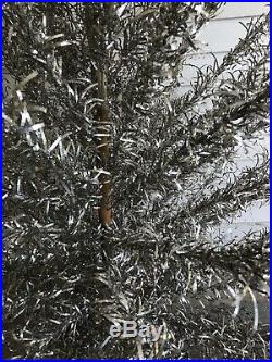 Aluminum Specialty Co Base 99 Branch 6 FT Silver CHRISTMAS TREE withBox 1960s