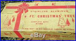 Aluminum Stainless'4806 Silver' 6 Ft. Christmas Tree'55 Branch