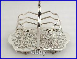 Antique Unusual Christmas Tree Design Highly Ornate Silver Plated Toast Rack