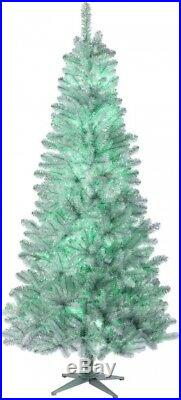 Artificial Christmas Tree 7.5 Ft. Prelit Color Changing Light Aluminum Plug-In