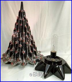Atlantic 314 19 Ceramic Lava/Ice Christmas Tree Black & White Gold (Silver)