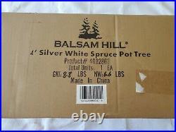 Balsam Hill 4' Silver White Spruce Pot Tree