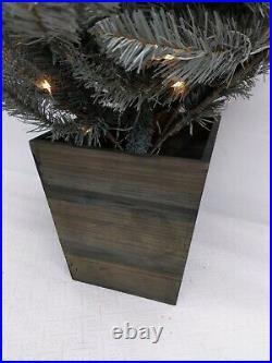 Balsam Hill 4' Silver White Spruce Pot Tree, 33 wide, Pre-lit, New in Box/Open