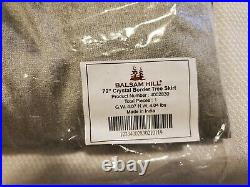 Balsam Hill 72 Crystal Border Tree Skirt