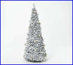 Barbara King 6' Flocked Pre-Lit Pop-Up Tree Silver/Gold