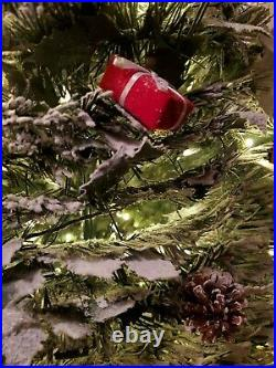 Barbara King 6' Pre-Lit Decorator Pop Up Tree with PoinsettiasGreen/White/Red