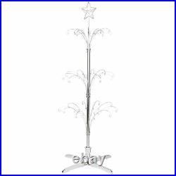 Bard's Rotating 60 Ornament Display Tree, Silver-toned, 60 High