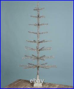 Bethany Lowe 50 Shiny Silver Tinsel Christmas Tree