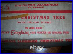 COLLECTOR VTG 4 FT RETRO SILVER STAINLESS Aluminum Specialty ALUMINUM XMAS TREE