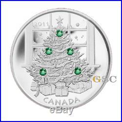 Canada 2011 20$ Crystal snowflake christmas tree swarovski 1oz fine silver coin