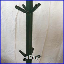 Christmas Tree Artificial Vtg Green Silverline Tru-Spruce Wood Metal Plastic 5ft