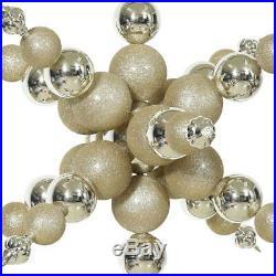 Christmas Tree Decorations Snowflake Ornament Shiny Glitter Artificial Xmas Home