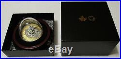 Christmas Tree Moving Train 5oz Silver Coin/w Gold Lucky COA #888 CANADA