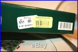 Christmas Tree Plate 9 Mikasa Silver Red Green L3276 Palatial Platinum Lot (8)