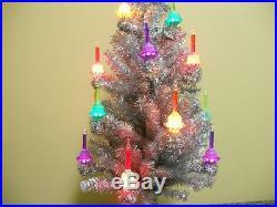 Christopher Radko SHINY BRITE Bubble Light Christmas Tree Silver Tinsel