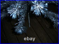 Collector's Vtg 6ft Retro Sharp Silver Evergleam Fountain Aluminum Xmas Tree