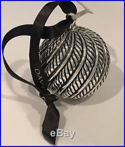DAVID YURMAN Sterling Silver Classic Cable Ball Christmas Tree Holiday Ornament