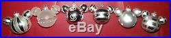 Disney Mickey Mouse Ears silver Glass Christmas Tree Ornament set of 41