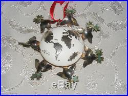 Emilia Castillo Sterling Silver 2005 Enamel World Christmas Tree Ornament RARE