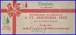 Evergleam 58 Branch Stainless Aluminum 4 Ft. Christmas Tree