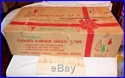 Evergleam 6' Silver Aluminum Christmas Tree Color Wheel Tree Turner Stand Box