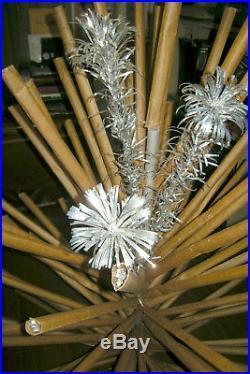 Evergleam 94 Branch Silver Pom Pom 6' Aluminum Christmas Tree, Revolving Stand