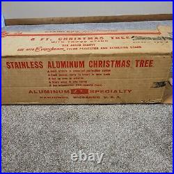 Evergleam Aluminum Christmas Tree 6ft. 46 Swirl Branches