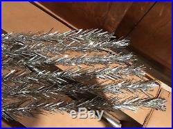 Evergleam Vintage 8 Foot 124 Branch Silver Aluminum Christmas Xmas Tree Stunning