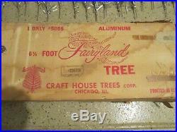 Fairyland # 5006 Aluminum Christmas Tree 6 1/2 Ft, Silver