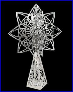 Frank Lloyd Wright Luxfer Silver Plated Christmas Tree Topper
