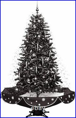 Fraser Hill Farm 75 Musical Tree Black Silver Snow Function Christmas