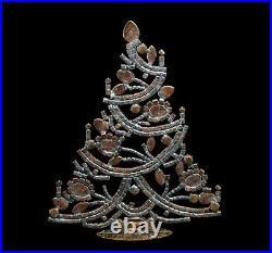 Free standing vintage rhinestone Christmas tree Prong Set Stones (# 13700)
