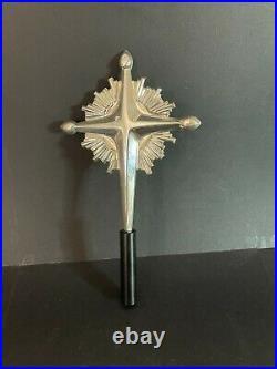 Gorham Rare 1970 Sterling Silver Christmas Tree Tip Starburst Cross 440 Mint
