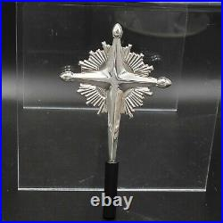 Gorham Sterling Silver Starburst Cross Christmas Feather Tree Topper Treetip 440