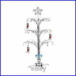 HOHIYA Ornament Display Tree Stand Metal Christmas Rotating Dog Cat Glass Bal