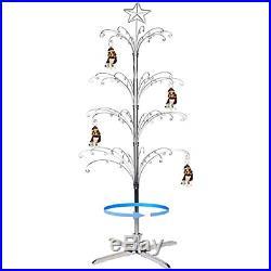 HOHIYA Ornament Display Tree Stand Metal Christmas Rotating Glass Dog Cat Ball
