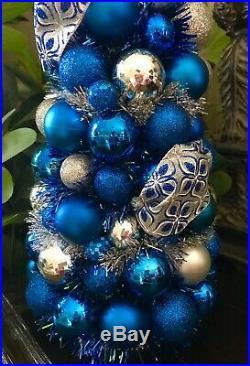 Handmade Unique 20 Christmas Tree Centerpieceblue Fantasy Holiday Decor