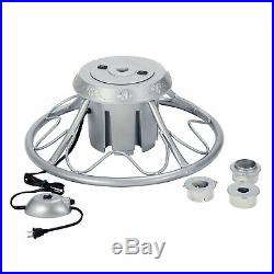 Home Heritage Electric Rotating Stand for Artificial Christmas Trees, Silver